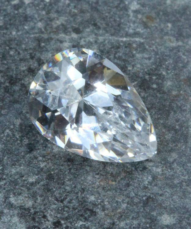 CZPR10X7 = Cubic Zirconia Pear Shape 10x7mm (Pkg of 2)
