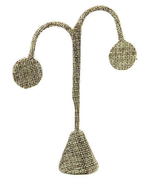 DER3242 = Burlap Earring Display 4-3/4'' high (Pkg of 3)
