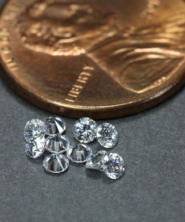CZRD2.25 = Cubic Zirconia Round 2.25mm (Pkg of 10)