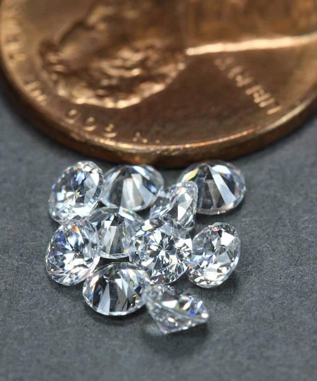CZRD3.5 = Cubic Zirconia Round 3.5mm (Pkg of 10)