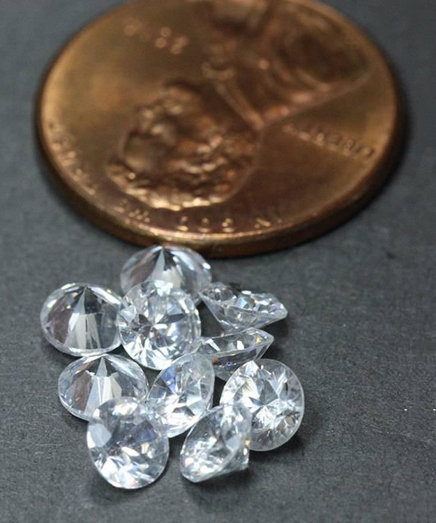 CZRD4.5 = Cubic Zirconia Round 4.5mm (Pkg of 10)