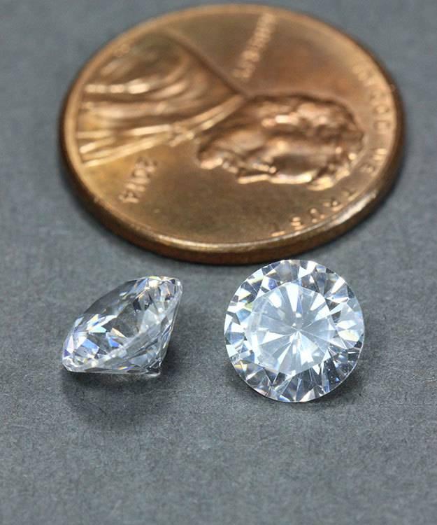 CZRD7.5 = Cubic Zirconia Round 7.5mm (Pkg of 2)