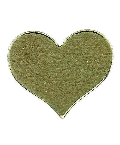 MSBR70224 = Brass Shape - Heart 11 x 13mm (Pkg of 6)