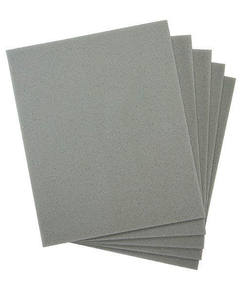 EM6006 = Sanding Sponges, Foam Rubber/Aluminum Oxide 400 grit (Pkg of 5)