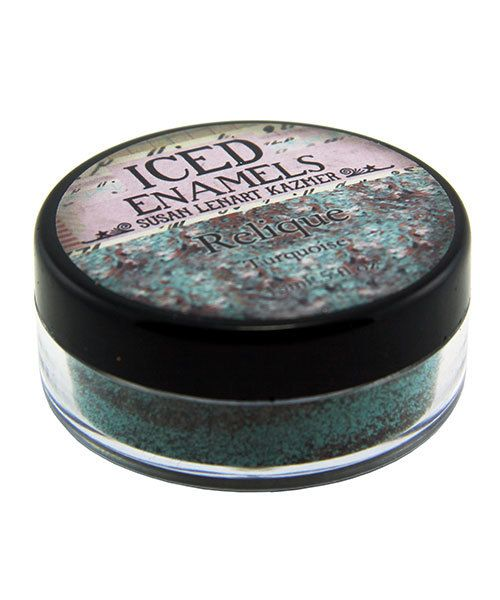 CE91001 = Iced Enamels Relique Powder, Turquoise 15ml