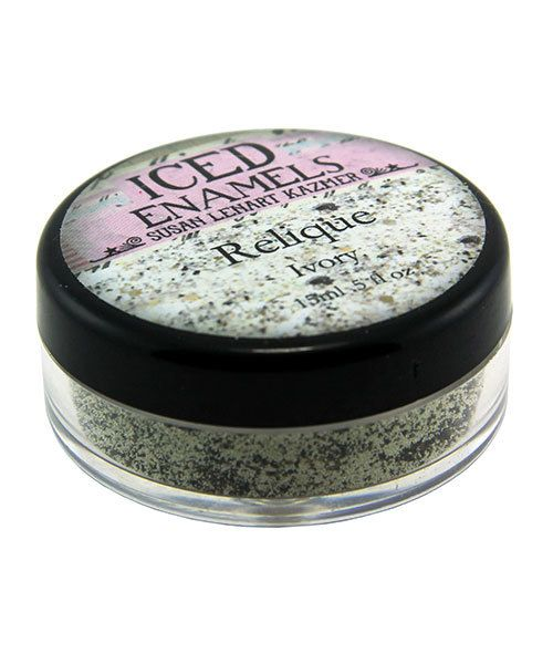 CE91005 = Iced Enamels Relique Powder, Ivory 15ml