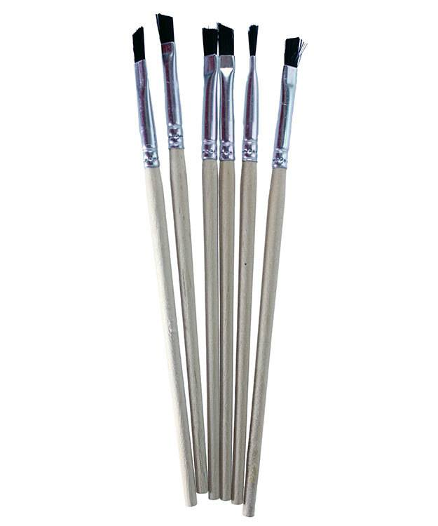 CE91075 = Iced Enamels Angled Brushes  6 pack