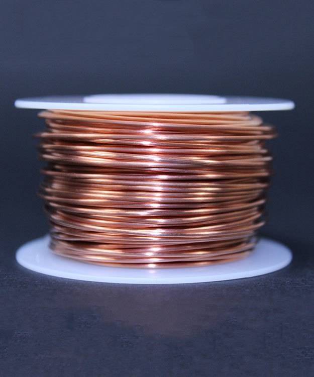 CHRW20H = Copper Wire Half Round 20ga 0.81mm Half Hard (Approx 137ft)(apx 1/4 lb)