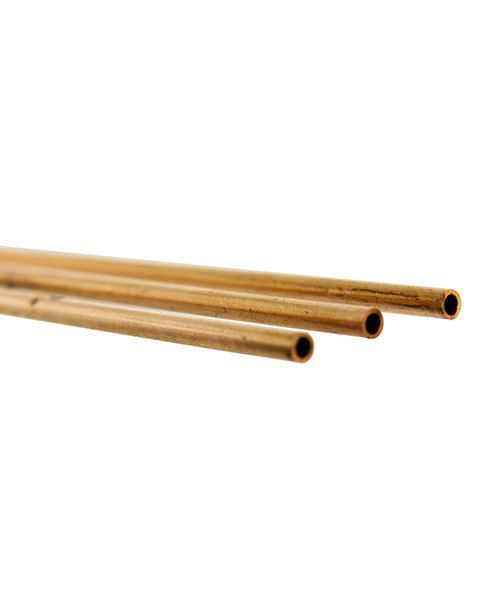 CRT02 = Round Copper Tubing 12'' long x  3/32'' OD (Pkg of 3)