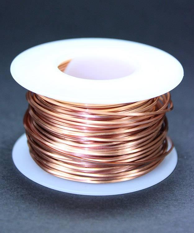 CSW20H = Copper Square Wire 20ga 0.81mm Half Hard (Approx. 60.5ft)