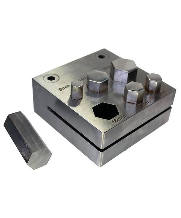DA2405 = Hexagon Disc Cutter Set of Six Sizes 8mm to 18mm
