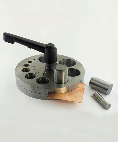 DA2590 = Economical Disc Cutter 1/8'' to 1-1/4'' - Ten Punches