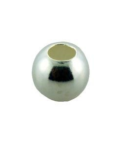 ABSF-05 = Seamless Bead Silver Filled 5.0mm Polished Large Hole (Pkg of 25)
