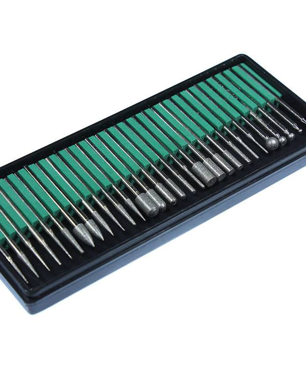 BR16073 = Diamond Bur Set 30pcs Large 400 Grit