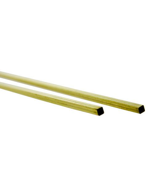 BST01 = SQUARE TUBE BRASS .014 WALL 12'' LONG 1/16'' OD card of 2pcs