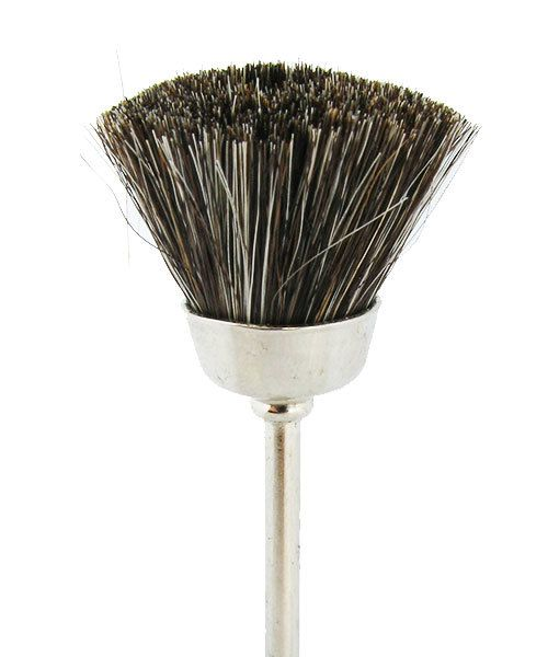 BU1425 = BRISTLE MOUNTED CUP BRUSH  1/2'' SOFT - 3/32'' mandrel (Doz)