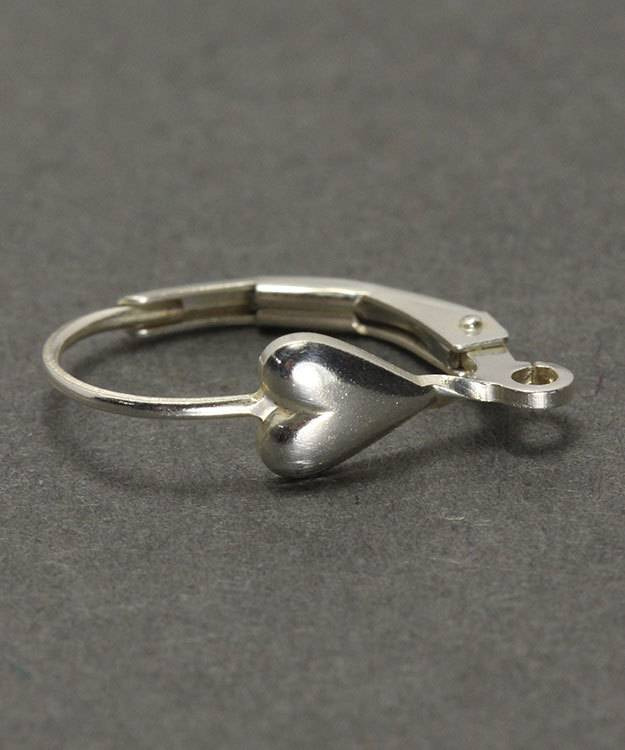 428S-05 = Leverback with Heart and Ring Sterling Silver (Pkg of 2)