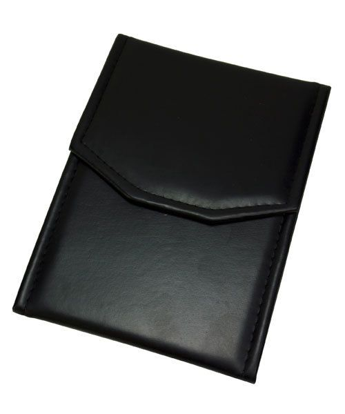 DBX2904B = FOLDER - LEATHERETTE CHAIN FOLDER (BLACK/BLACK)