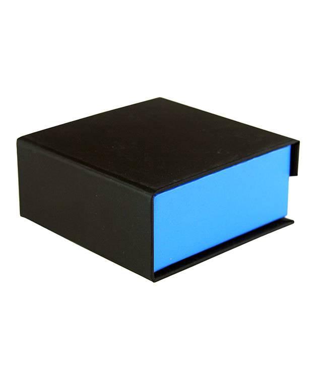 DBX4051 = Deluxe Magnetic Blue/Black Combination Box 3-3/8'' x 3-3/8'' x 1-3/8'' (Each)