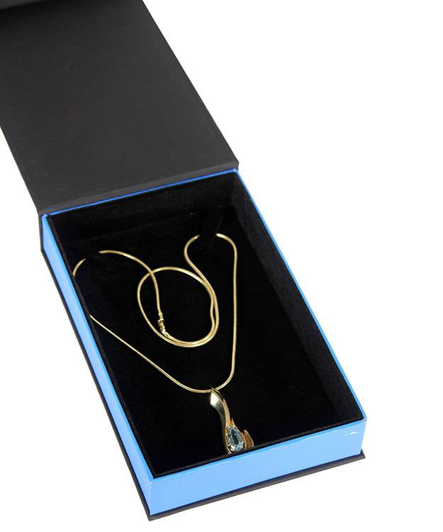 DBX4055 = Deluxe Magnetic Necklace Box 4-3/4'' x 7-1/4'' x 1-1/8'' (Each)