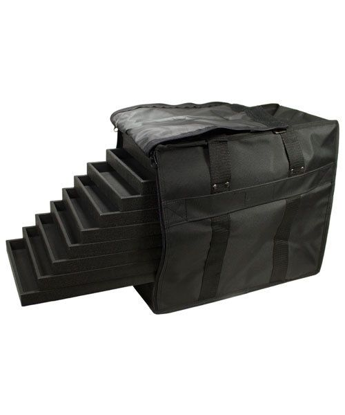 DCA1272 = SOFT SIDED CARRY CASE for up to 12 x 1'' STANDARD TRAYS