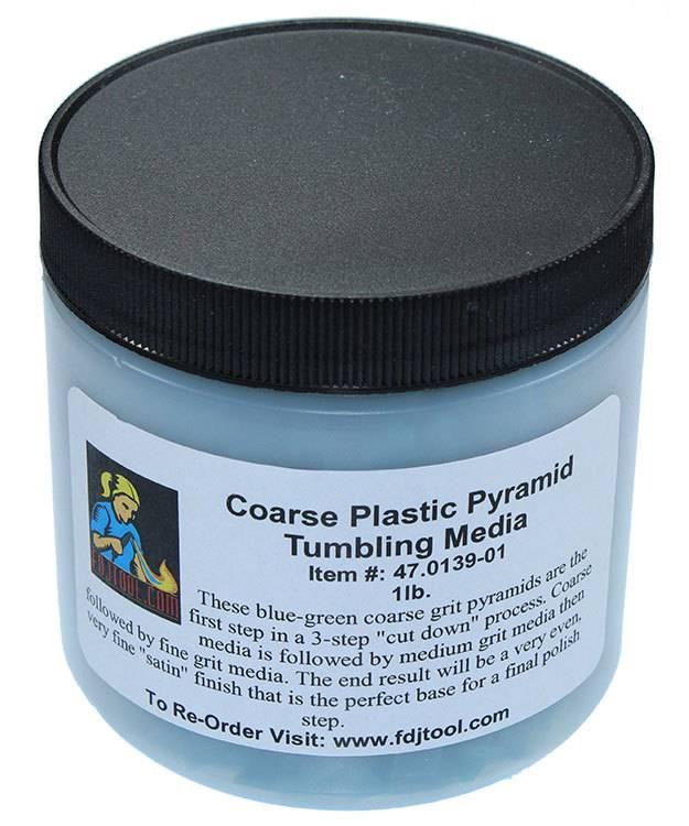 47.0139-01 = Tumbling Media Coarse Plastic Pyramids (1lb)