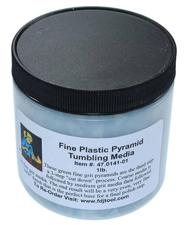 47.0141-01 = Tumbling Media Fine Plastic Pyramids (1lb)