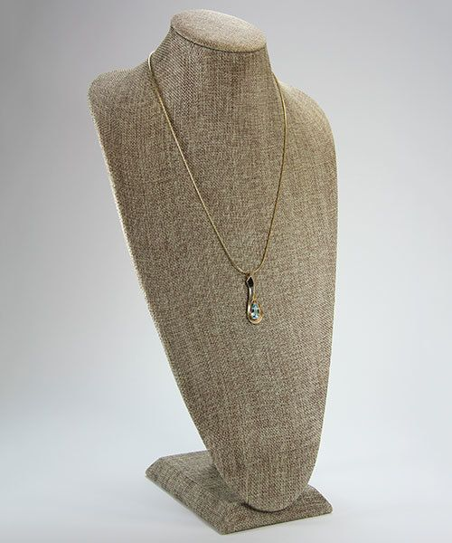 DCH3812 = Burlap Super Tall Necklace Bust 9-1/4'' wide x 17-1/2'' high