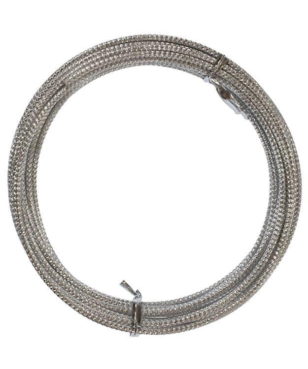 Embossed Aluminum Wire Black Color 9ga 16 14 Feet Per Bag WR75409