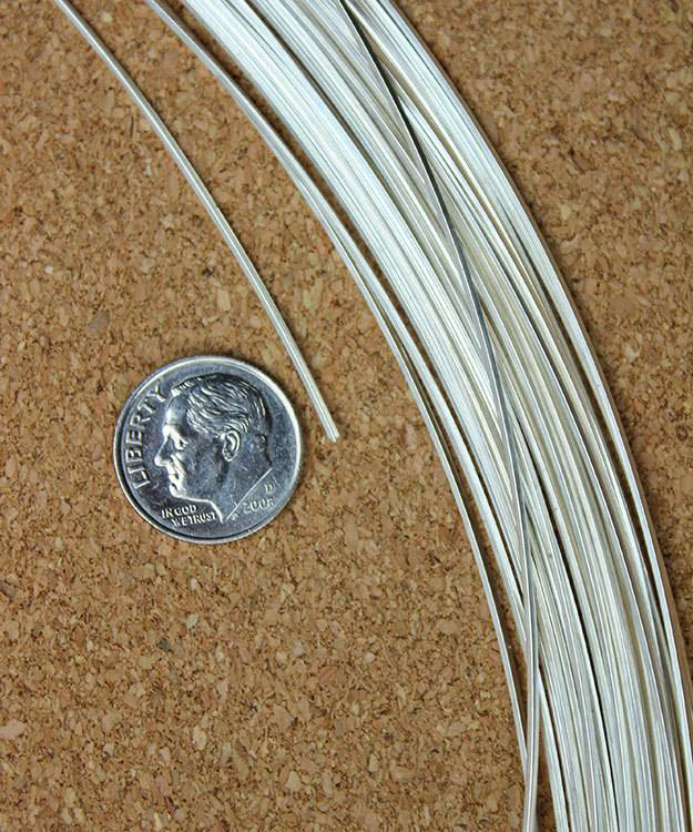 SSW20 = Square Sterling Wire 0.8mm 20ga Dead Soft (5ft coil)