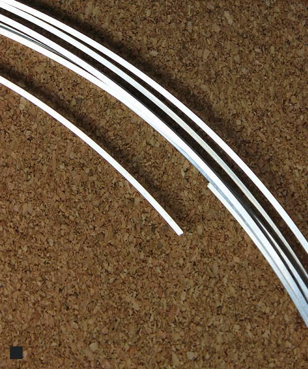 SSW16 = Square Sterling Wire 1.3mm 16ga Dead Soft (Sold per foot)