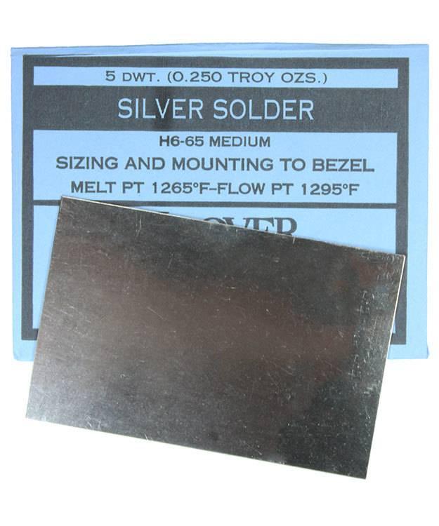 SSSM = Silver Sheet Solder Medium 5dwt (1/4oz)