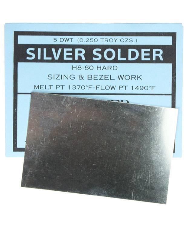 SSSH = Silver Sheet Solder Hard 5dwt (1/4oz)