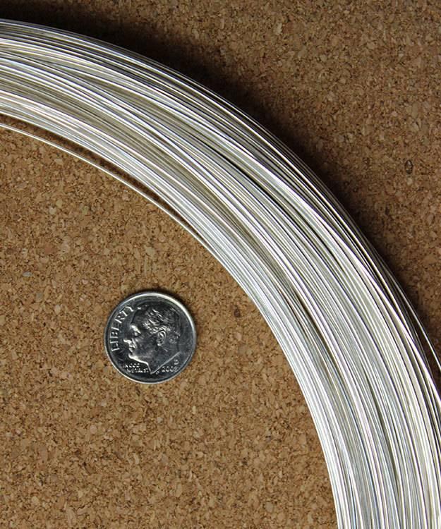 SRW20 = Round Sterling Wire 20ga (0.8mm)  Dead Soft (Sold per foot)