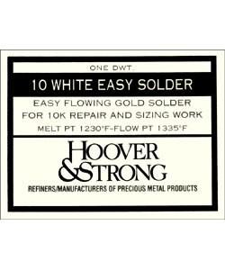 SR10WE = SOLDER 10KT REPAIR White