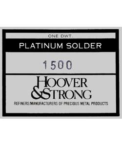 SPT1500 = SOLDER PLATINUM SHEET WELDING