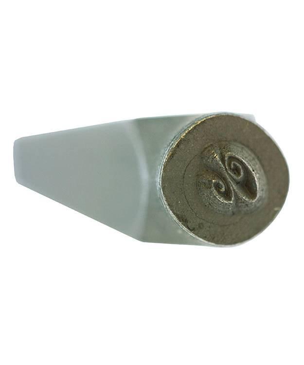 PN975 = Letter Punch Set 4mm SPIRAL LOWER CASE 27pcs with CASE