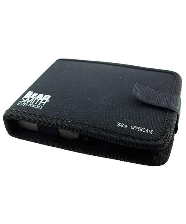 PN974 = Letter Punch Set 4mm SPIRAL UPPER CASE 27pcs with CASE