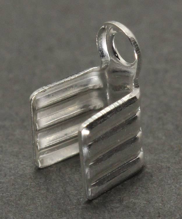 500S-11 = Fold Over Chain End Sterling Silver 3.3 x 4.6mm (Pkg of 10)