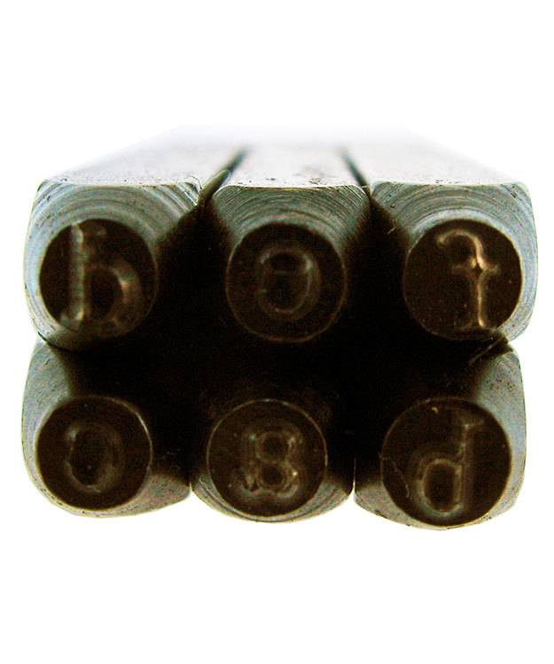 PN960 = Letter Punch Set Lower Case Times New Roman 27pcs in Wood Box   3mm Imprint