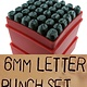 PN955 = Letter Punch Set 0 thru 9 and A thru Z with ''&'' Symbol   6mm Imprint