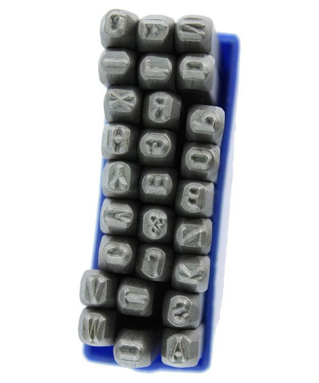 PN943 = Letter Punch Set A thru Z with ''&'' Symbol   3mm Imprint
