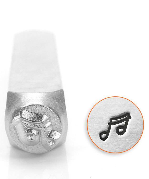PN6546 = ImpressArt Design Stamp - Music Note 6mm