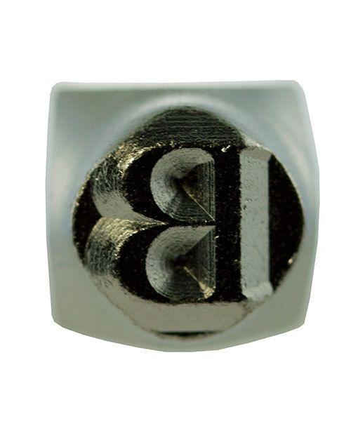 PN6483 = ImpressArt Design Stamp - Greek letter BETA 6mm