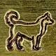 PN6475 = ImpressArt Design Stamp - dog-siberian husky 6mm