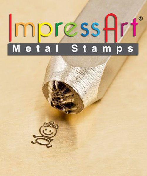 PN6399 = ImpressArt Design Stamp - baby girl - stick figure 6mm