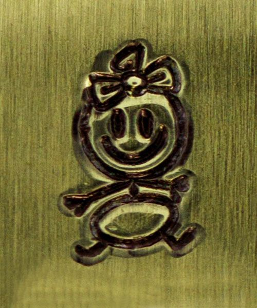 6mm Baby Girl Stick Figure Design Stamp ImpressArt