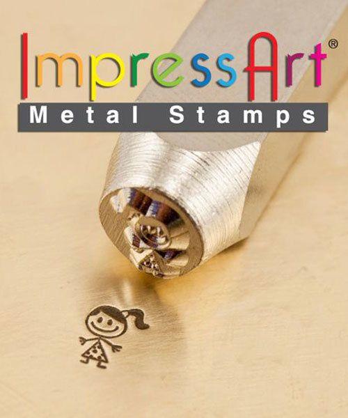 PN6398 = ImpressArt Design Stamp - ''sara'' - stick figure 6mm