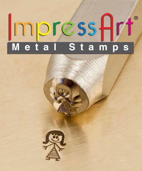 PN6389 = ImpressArt Design Stamp - mommy - stick figure 7mm