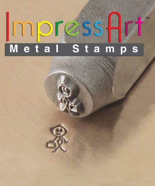 PN6380 = ImpressArt Design Stamp - dad - stick figure 7mm